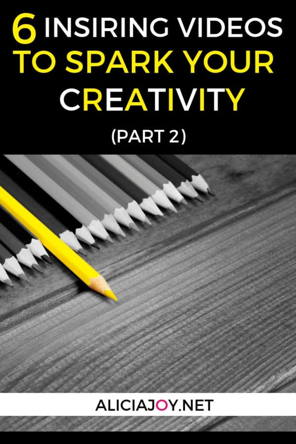 image of pencils with text box above, reading: 6 Inspiring Videos to Spark Your Creativity Part 2