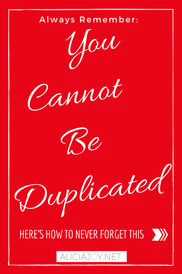 Here's why you cannot be duplicated, ever!