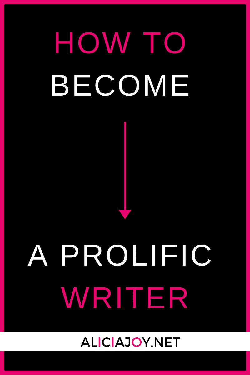 image of text box how to become a prolific writer
