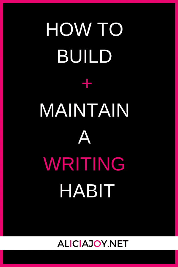 image of text box how to build and maintain a writing habit