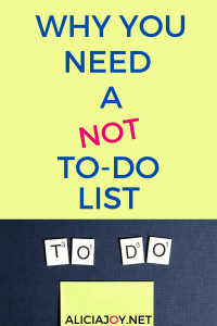 image of post it not and text why you need a not to-do list