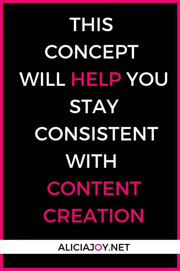 image of text box this concept will help you stay consistent with content creation