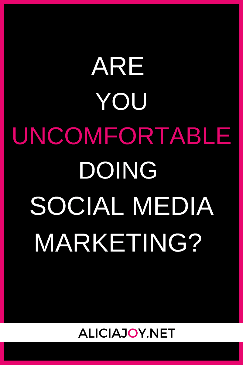 image of text box are you uncomfortable doing social media marketing