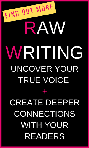 text box raw writing uncover your true voice create deeper connections with readers