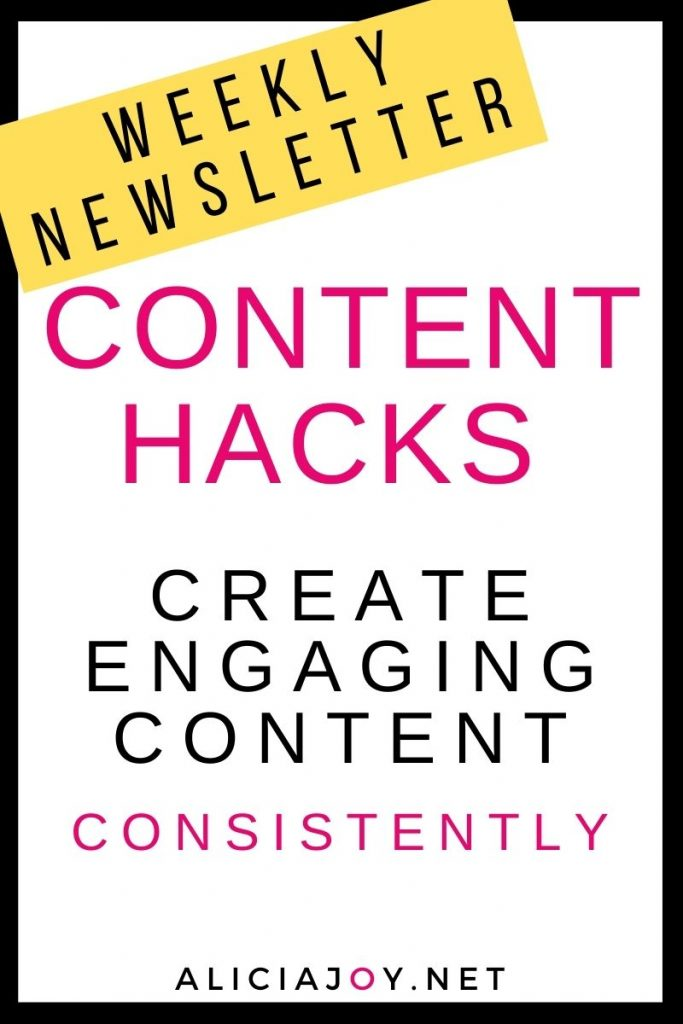 image of text box content hacks create engaging content consistently